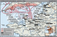 A map the invasion of Normandy
